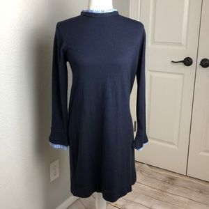 Vince Camuto Sweater Dress with Pleated Accents S